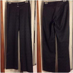 Women's Black Patterned Chico's Dress Pants